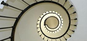 Treppe aufwärts